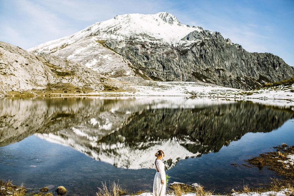 fotos de boda en un lago