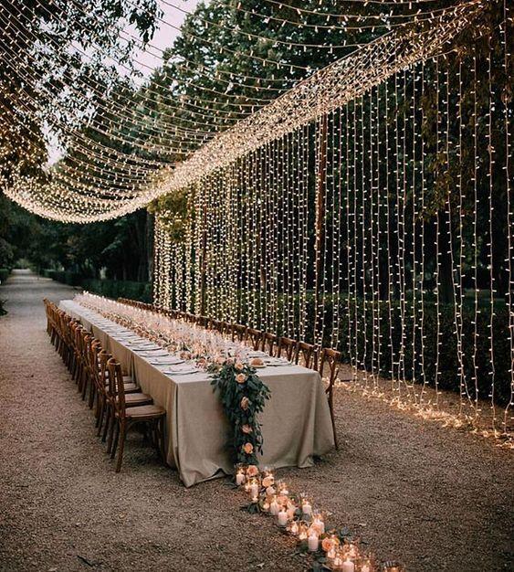 boda iluminada